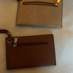 2 leather wristlets